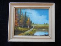 Ölbild mit Holzrahmen, handgemalt, Landschaftsbild (meine Pos-Nr. 13)