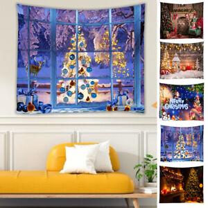 Christmas Wall Backdrop Tapestry Festival Props Background Photo Studio Decor UK