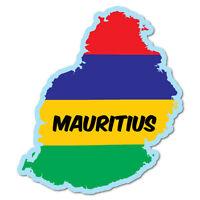 Mauritius Continent Flag Sticker Flag Bumper Water Proof Vinyl 7244EN