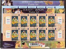 CEPT, Europa 2003 Jersey, Mi 1071/1072 im Kleinbogen, gestempelt, KW 25,00€