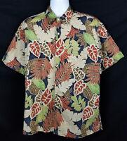 Tori Richard Hawaiian Shirt Mens M Short Sleeve Button Front Cotton Lawn Floral