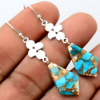 Spiny Oyster Turquoise - Arizona 925 Sterling Silver Earrings Jewelry 9556