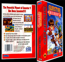 Gunstar Heroes - Sega Genesis Reproduction Art Case/Box No Game.
