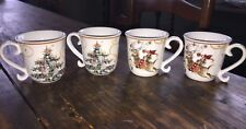 Williams Sonoma Twas The Night Christmas Espresso Reindeer Cups (4) NEW