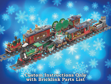 LEGO Winter Village Train Six MORE Bonus Cars - INSTRUCTIONS ONLY for 10254 Xmas