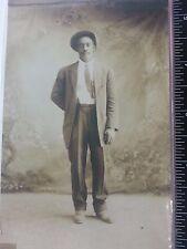 Vintage African Americana postcard of handsome gentleman