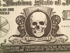 Vtg Fake Money, Magic Bucks Minted In Illustrious State of Illusion Printed 1953