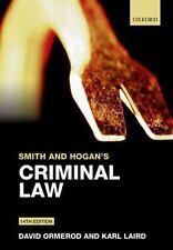 SMITH AND HOGAN'S CRIMINAL LAW - ORMEROD, DAVID/ LAIRD, KARL - NEW PAPERBACK BOO