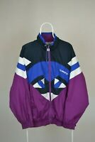 MENS VINTAGE 90s HUMMEL FULL ZIP WINDBREAKER JACKET TRACK JACKET RETRO SIZE XL