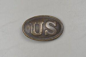 CIVIL WAR U.S. OVAL BELT PLATE W/PUPPY PAW HOOKS – EARLY BATTLEFIELD PICKUP