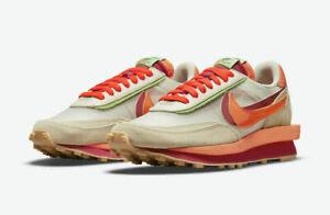 Nike LD Waffle sacai CLOT Net Orange Blaze (DH1347-100) Size Mens US 8 CONFIRMED