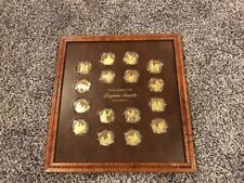 The Genius of Benjamin Franklin Proof Gold Overlay of Silver Proofs 16 BU Coins