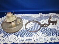 Antique Cast Iron Victorian Wall Mount Bracket Holder W Glass Oil Kerosene Lamp