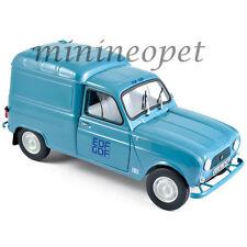 NOREV 185197 1965 RENAULT 4 F4 FOURGONETTE EDF GDF 1/18 DIECAST MODEL CAR BLUE