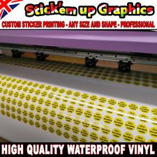 LOGO Printed Vinyl Round Stickers - GLOSSY Waterproof Custom Logo -Personalised