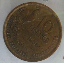 10 francs guiraud 1958 : TTB : pièce de monnaie française
