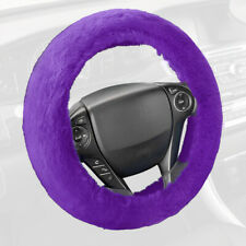 Soft Plush Luxurious Faux Wool Steering Wheel Cover for Car Truck SUV - Purple