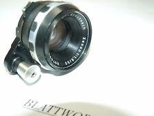 GENUINE  Schneider Kreuznach Xenon 50mm F1.9 for EXAKTA RED DEPT OF FIELD SCALE