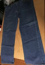 Vtg LEVIS 501XX button-fly straight JEANS Mens label 46x32 FIT 43-44x30 made USA