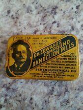 Vintage Dr. Edwards Compound Dandelion Pills Medicine & Tin New York 25 cents