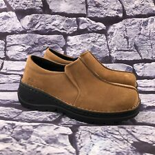 Skechers Work Balance 1283 Women's Tan Suede Slip On Clogs Shoes Size 7.5