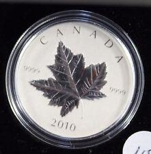 **2010** $5 Dollar, Piedfoet, Silver Maple Leaf Coin
