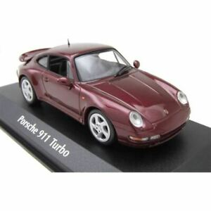 Minichamps x Tarmac Works 1/43 Porsche 911 Turbo (993) 1993 Red Metallic (New)