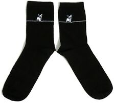 LADIES FRENCH BULLDOG CLASSY EMBROIDERED DOG SOCKS UK 4-8 EUR 37-42 USA 6-10