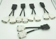 Lot of 5 Assorted DMS-59 Male to Dual DVI-I Female Y Splitter Cable Adapter