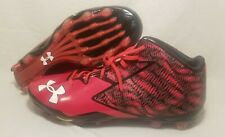 Under Armour Football Cleats Nitro Mid Clutchfit Red Black 1270443-051 Mens 16