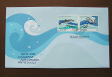 #2387 FDC 57¢ 2010 Canada Postage Stamp Pair Harbour Porpoise & Sea Otter Animal