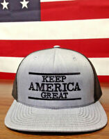 Trump Keep America Great Richardson 112 Trucker Hat Heather Grey/Blk Embroidery