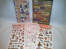 Lot 5 Halloween Fall Autumn Scrapbooking Card Making Supplies Embellishments