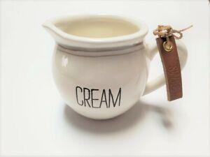 """Mud Pie E1 Coffee Dessert Kitchen Ceramic Bistro 3"""" H Cream Only 4784018 DEFECT"""