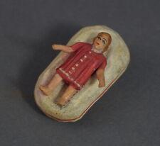 Grulicher Krippenfigur, Krippe mit Baby Jesus - Holz geschnitzt   (# 11390)