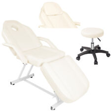Beauty Salon Chair Pu Leather Massage Tables Tattoo Facial Couch Bed+Small Stool