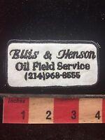 Vtg Ellis & Henson Oil Field Service Advertising Patch C761