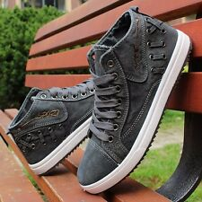 Men's High top Sneakers Canvas Casual Breathable England Recreational Shoes