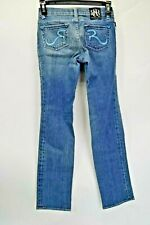 Rock and Republic Womens Size 10 Meas. 24x27.5 Straight Leg Blue Jeans (K4)
