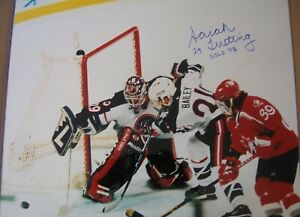 Sarah Tueting autographed signed 1998 USA Hockey 16x20 photo inscribed Gold 98