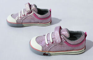 See Kai Run Girl's Hook And Loop Kristin Glitter Sneakers CL8 Pink Size US:9