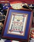 God, Family and Country Counted Cross Stitch Leaflet