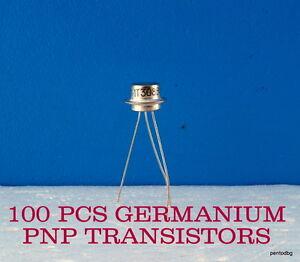 100 GERMANIUM TRANSISTORS 1T308V GT308V/ AF109/ 120MHz MILITARY IN ORIGINAL BOX
