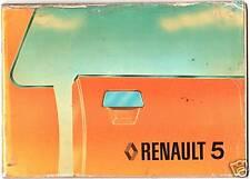 LIBRETTO USO E MANUTENZIONE RENAULT 5 TL/GTL/TS/AUTOMATIC 1300 -  1978