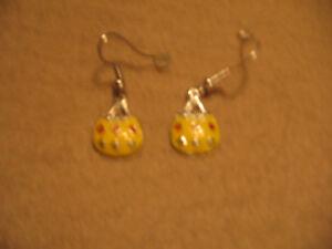 Yellow Purse Earrings
