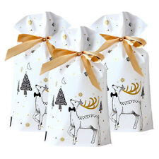 50Pcs Christmas Plastic Gift Bags Cookies Candy Packaging Drawstring Storage Bag