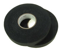 2 Rolls 19mm x 25M Adhesive Cloth Fabric Tape cable looms wiring harness *Black*