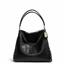 NWT COACH MADISON TWO TONE PYTHON EMBOSSED SMALL PHOEBE SHOULDER BAG F28604