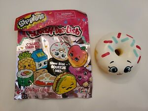 New Shopkins Squishy Series 2 White Sprinkle Donut with Original Packaging