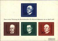 BRD (BR.Deutschland) Block4 (kompl.Ausgabe) gestempelt 1968 Konrad Adenauer